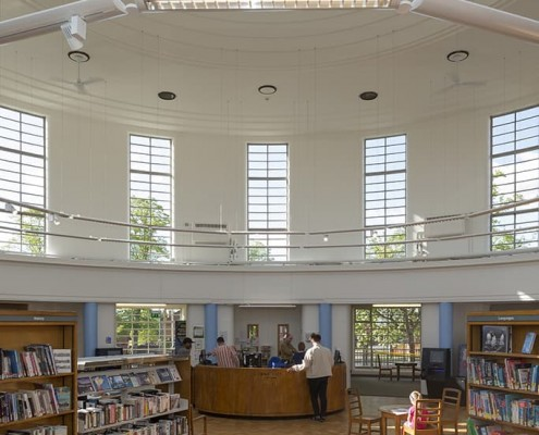 16. Southfields Library, Leicester - restoration by Purcell Architects